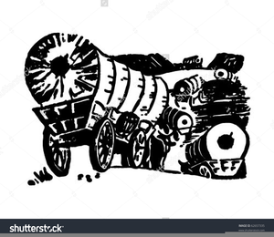 Covered free images at. Wagon clipart border
