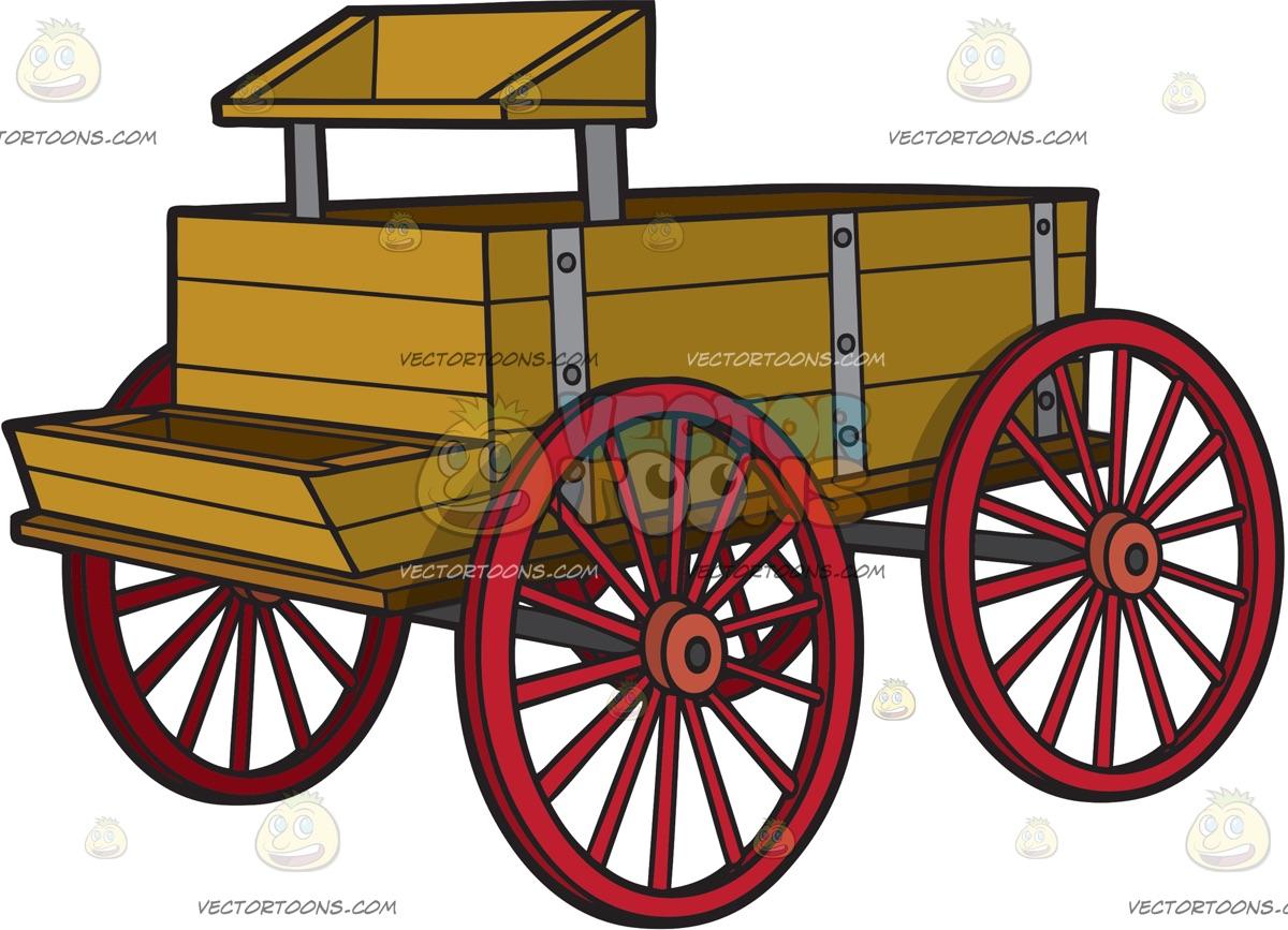 A vintage horse station. Wagon clipart buckboard wagon