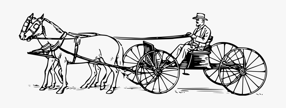 Horse coloring pages . Wagon clipart buckboard wagon