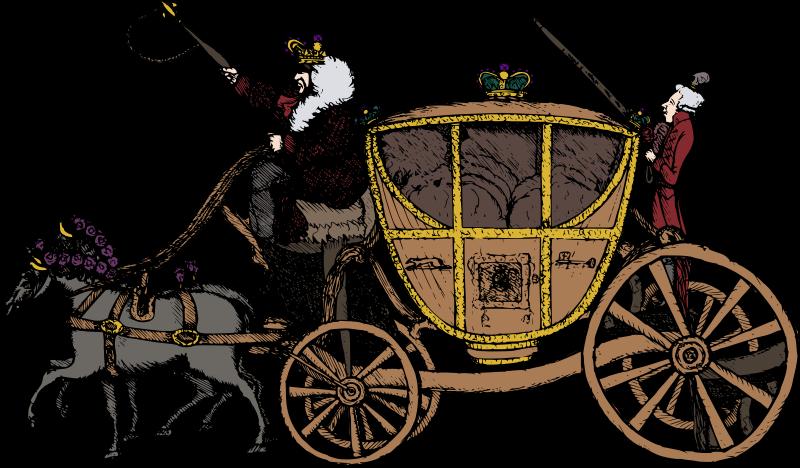Wagon clipart buggy. Fairy tale carriage medium