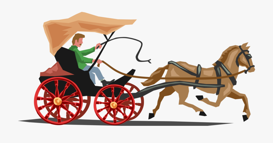 Wagon clipart bullock cart. Horse and buggy carriage
