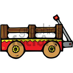 Wagon clipart cartoon. Royalty free