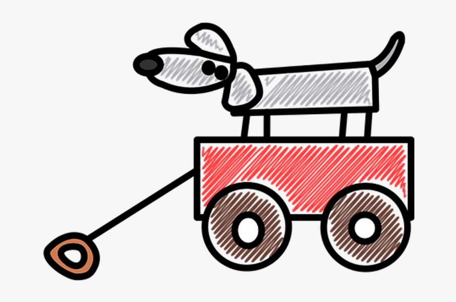 Wagon clipart cartoon. Dog png transparent icon