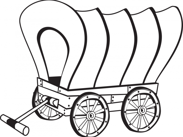 Wagon clipart chuck wagon. Covered drawing free download