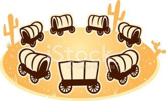 Stock vectors me . Wagon clipart circle