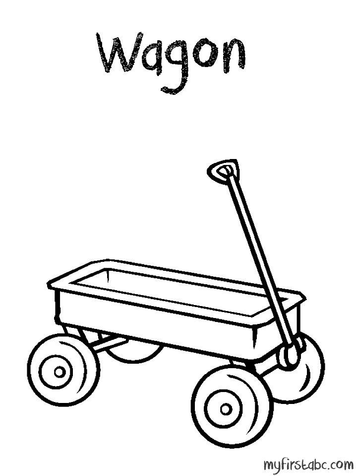 Wagon clipart coloring page. Free download clip art