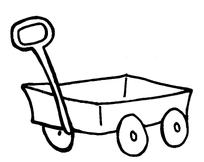 Red png dlpng com. Wagon clipart coloring page