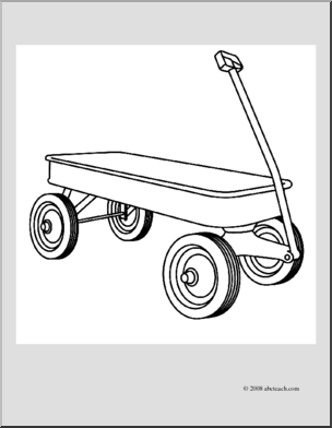 Wagon clipart coloring page. Clip art i abcteach