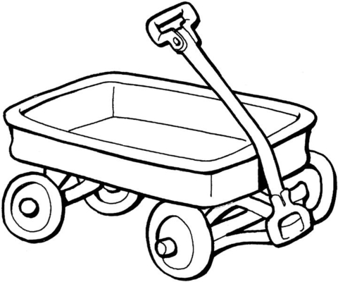 Download book covered . Wagon clipart coloring page