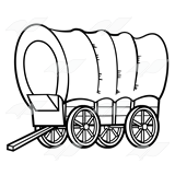 covered clipartlook. Wagon clipart coverd