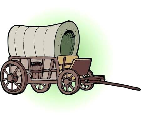 Wagon clipart coverd. Conestoga covered by