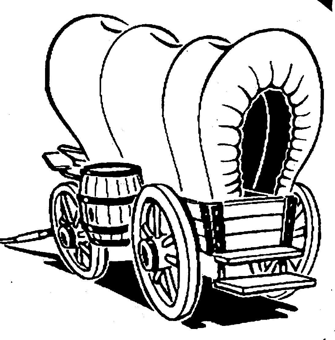 Covered lovely cliparts free. Wagon clipart coverd