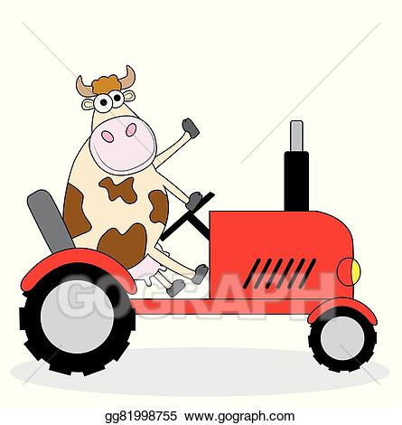 Vector art riding on. Wagon clipart cow