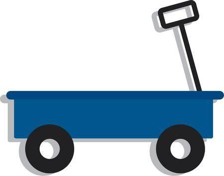 Wagon clipart cute. Free download clip art