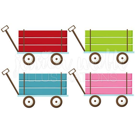 Wagon clipart cute. Pull digital clip art