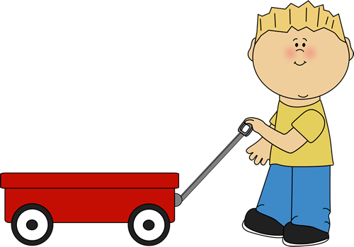 Kids pulling wagons top. Wagon clipart different student