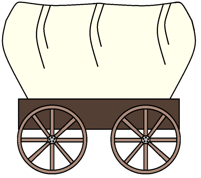 Western clip art for. Wagon clipart different student