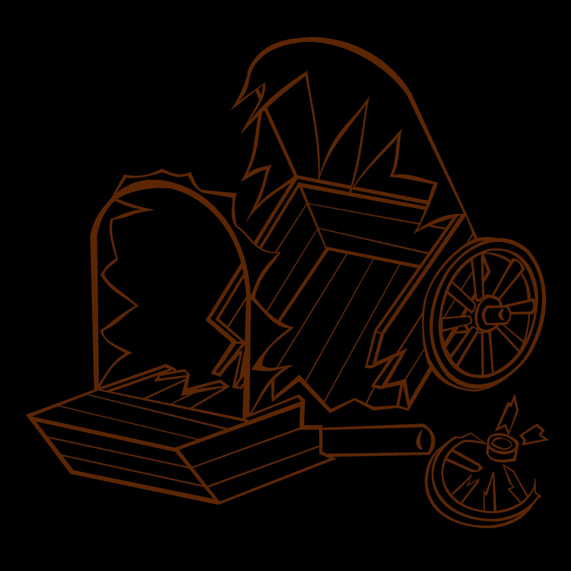 Wagon clipart drawing. Rpg map symbols caravan
