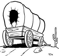 Wagon clipart easy draw. How to a covered