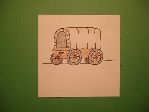 Let s a covered. Wagon clipart easy draw