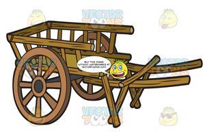 A two wheel . Wagon clipart farm wagon