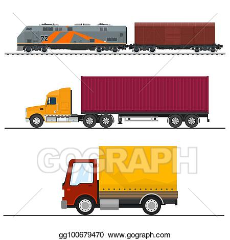 Wagon clipart freight. Eps vector transportation and