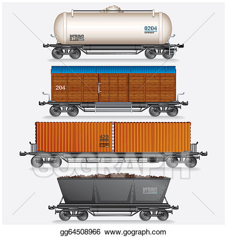 Wagon clipart freight. Stock illustration collection of