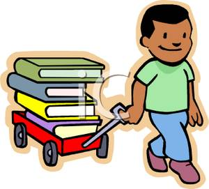 Wagon clipart kid wagon. A young boy pulling