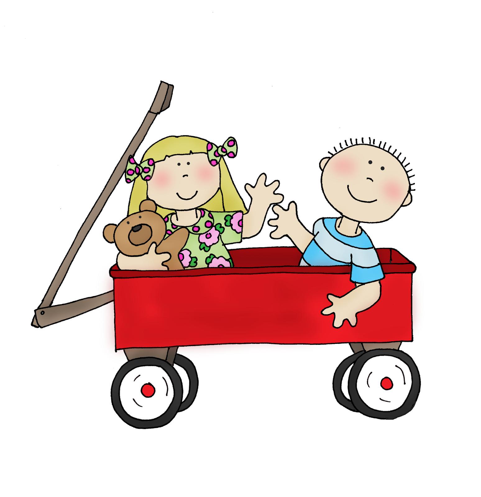 Wagon clipart little red wagon. Lil dearie dolls digi