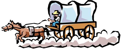 Wagon clipart manifest destiny. Oregon trail cliparts zone
