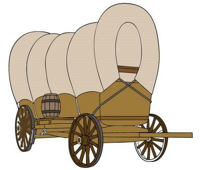 Pioneer clip art library. Wagon clipart mormon