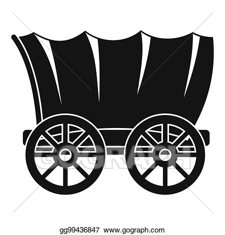 Wagon clipart old carriage. Stock illustration ancient western
