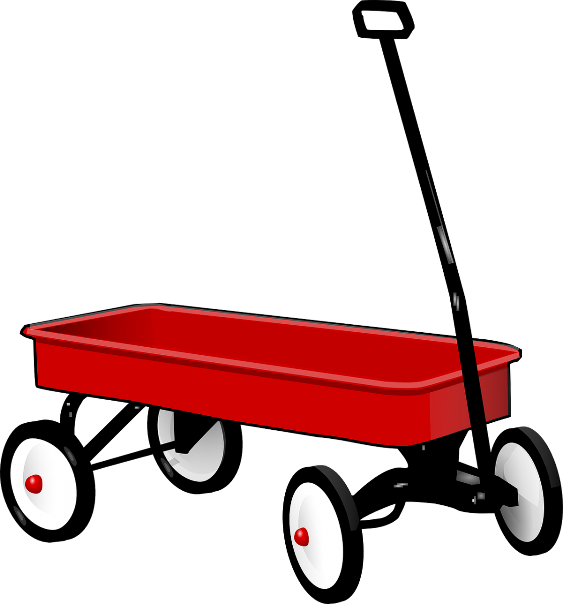 Little red png transparent. Wagon clipart old style
