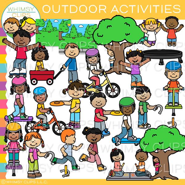 Wagon clipart outdoor child. Kids activities clip art
