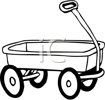 Covered cliparts free download. Wagon clipart outline