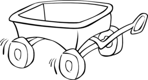 Clip art at clker. Wagon clipart outline