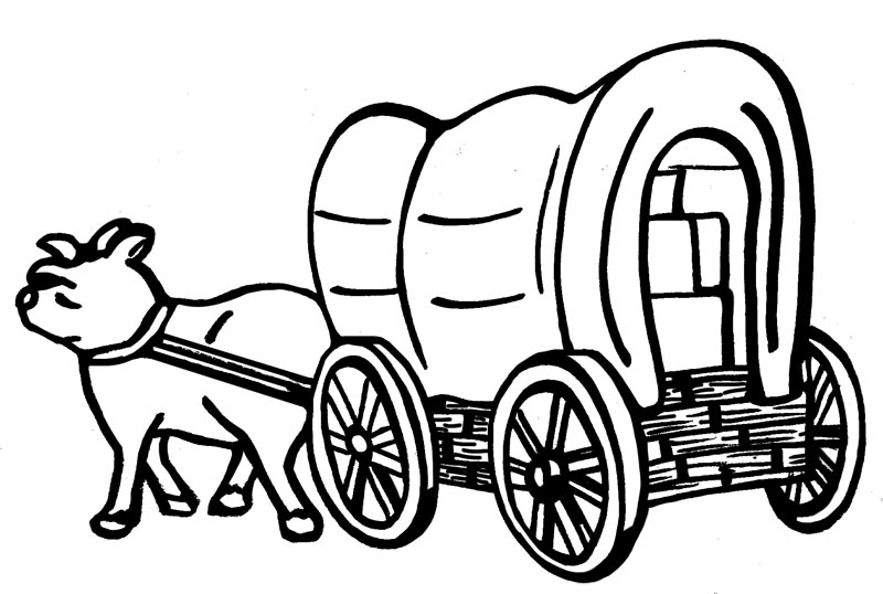 Wagon clipart pioneer. Ldsfiles covered for