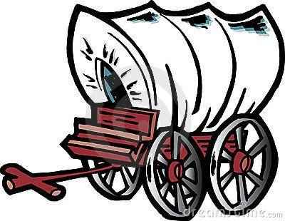Cartoon covered vbs western. Wagon clipart prairie schooner