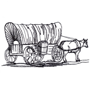 Wagon clipart sketch. Free covered cliparts download