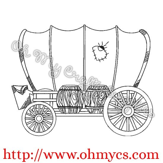Wagon clipart sketch. Covered at paintingvalley com
