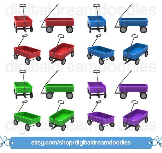 Wagon clipart toy cart. Clip art pull picture