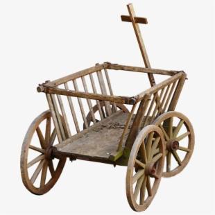 Stroller handcart wheel towbar. Wagon clipart toy cart
