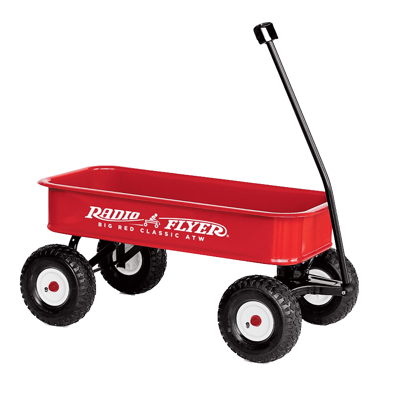 Radio flyer transparent png. Wagon clipart toy wagon