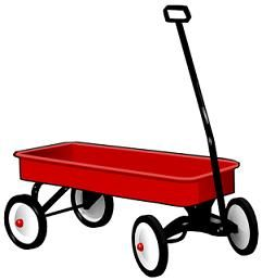 Picture of a red. Wagon clipart toy wagon