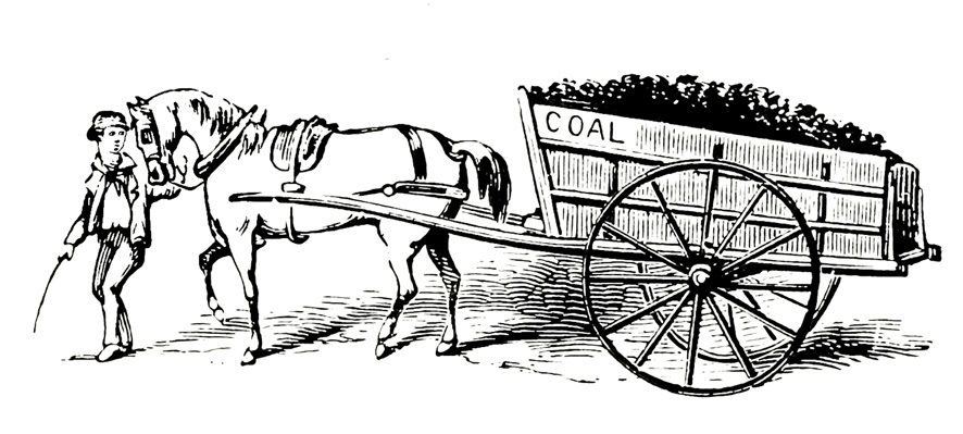 . Wagon clipart victorian