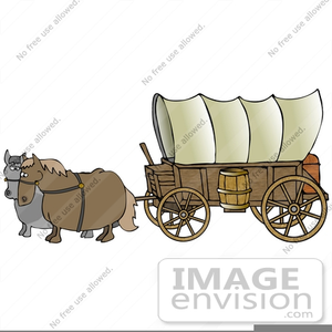 Wagon clipart wagon train. Free images at clker
