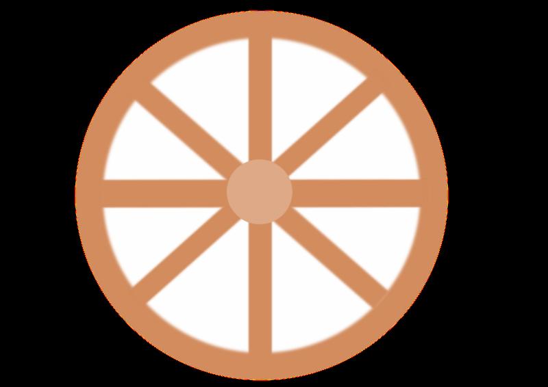 Cart wheel medium image. Wagon clipart wagonwheel
