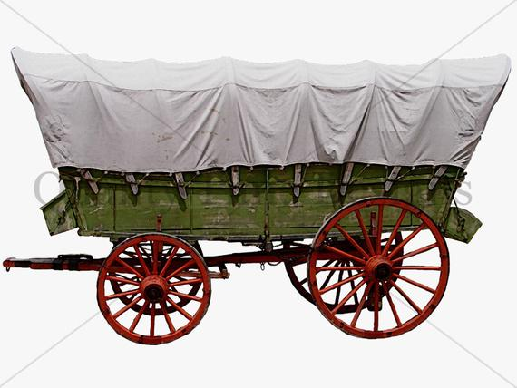 Wagon clipart western wagon. Covered southern boho digital