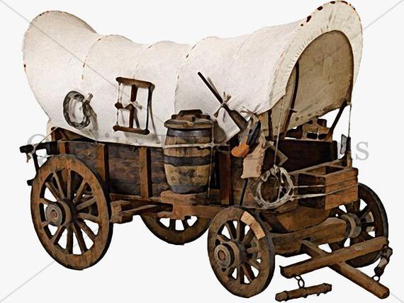 Covered southern boho digital. Wagon clipart western wagon