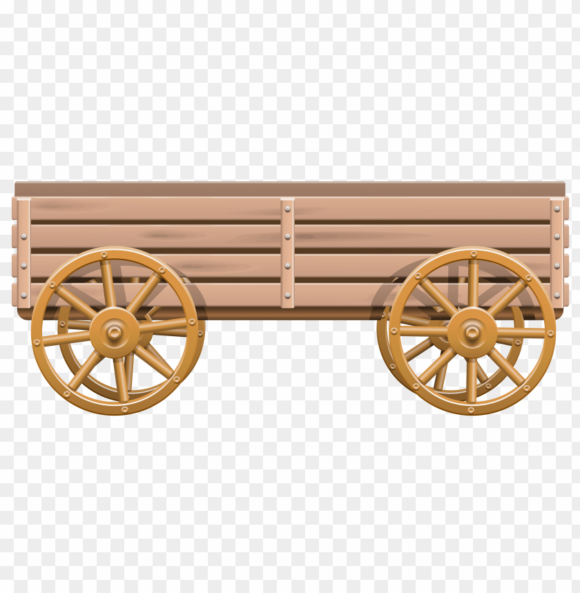 Wagon clipart wood cart. Download for free png